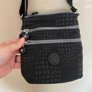 Black Kipling crossbody bag women's purse